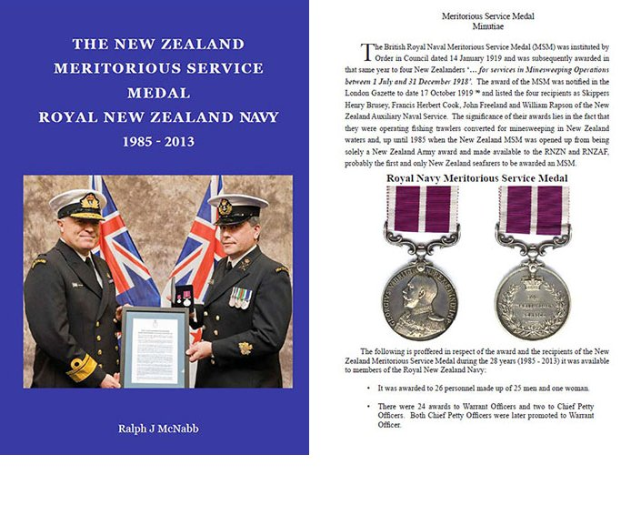 BK1022. THE NZ MERITORIOUS SERVICE MEDAL RNZN 1985-2013