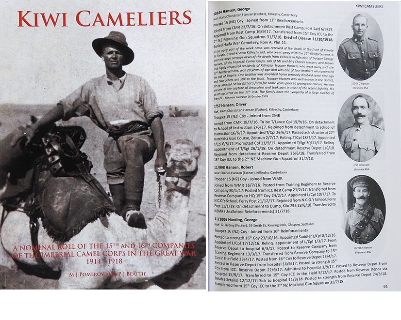 BK1031. KIWI CAMELIERS - Imperial Camel Corps Roll WWI