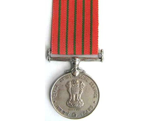 BC0531. INDIA - NINE YEARS LONG SERVICE MEDAL