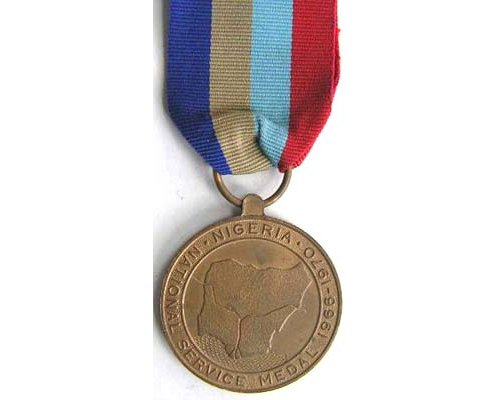 BC0542. NIGERIA - NATIONAL SERVICE MEDAL 1966-1970