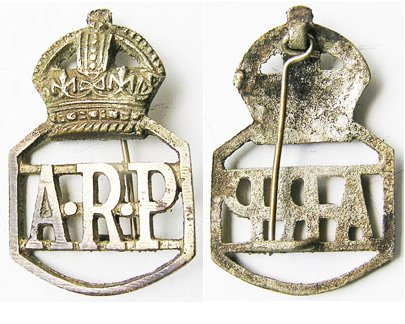 CB3213. BURMA WWII AIR RAID PROTECTION LAPEL BADGE