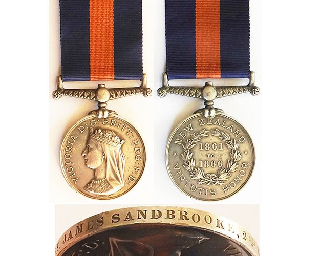 CM0016. NEW ZEALAND MEDAL Dated 1861 to 1866 – 2/14th Regt.