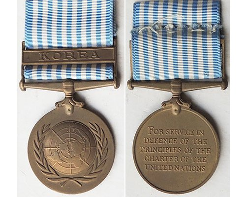 CM0314a. UNITED NATIONS MEDAL KOREA,	Unnamed