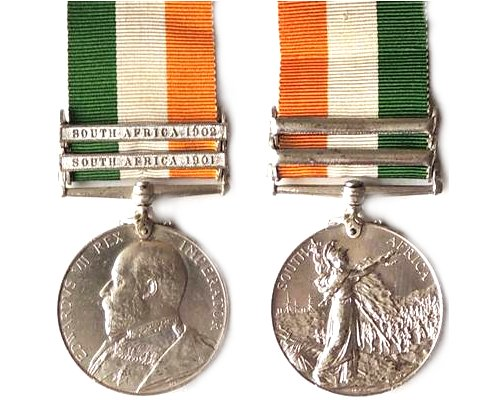 CM0048. KING'S SOUTH AFRICA MEDAL 1902 2 bars - 17th Lancers