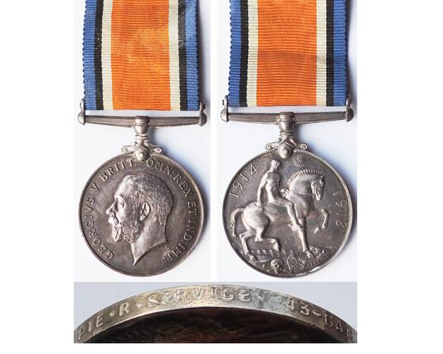 CM0075. 1914/20 WAR MEDAL - Canadian D.O.W. France 15/6/1917