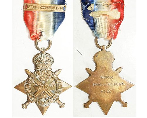 CM0172. 1914 STAR with Mons bar – T-2100 DVR. A.H.LIGHTFOOT, ASC