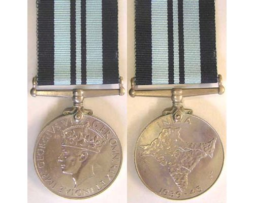 CM0482. INDIA SERVICE MEDAL 1939-45