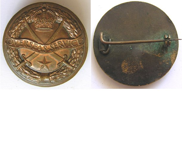 CM0279a. OVERSEAS SERVICE BADGE, Issued by British Army in India