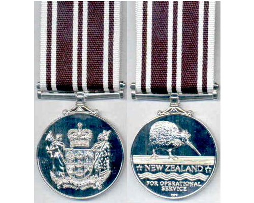 CM0296. NEW ZEALAND OPERATIONAL SERVICE MEDAL