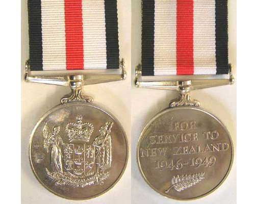 CM0297. NEW ZEALAND SERVICE MEDAL 1946-49