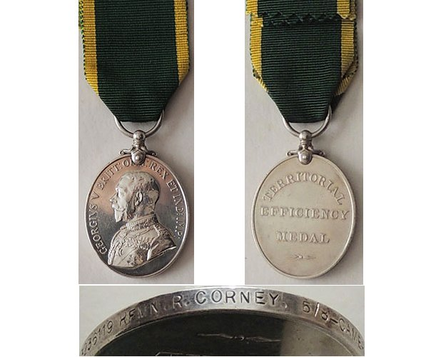 ESA050. TERRITORIAL EFFICIENCY MEDAL GVR - 5/8-Cameronians