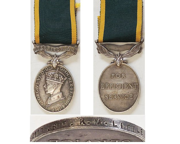 ESA058. EFFICIENCY MEDAL TERRITORIAL GVIR (Type 1) – R.M.P.