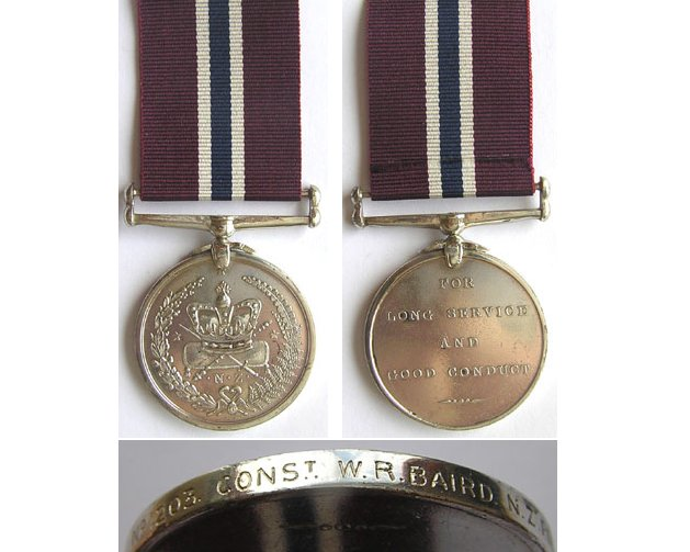 CM0360. NEW ZEALAND POLICE MEDAL - No.1203 CONST. W.R.BAIRD