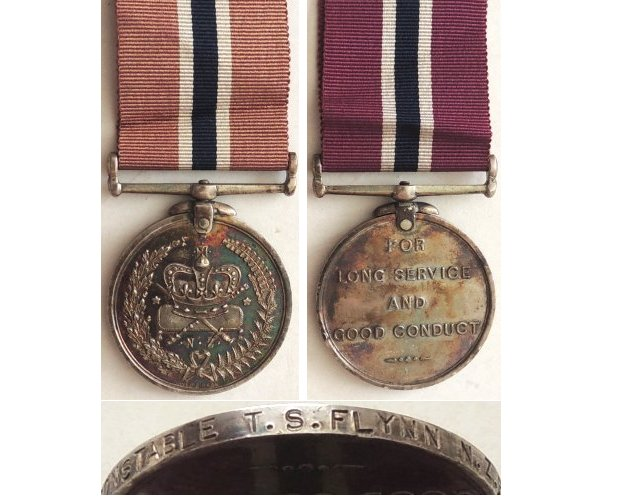 CM0363. NEW ZEALAND POLICE MEDAL - 3155 Flynn 1946