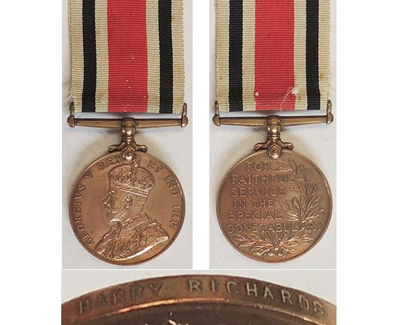 CM0371. SPECIAL CONSTABULARY MEDAL GVR – Harry Richards