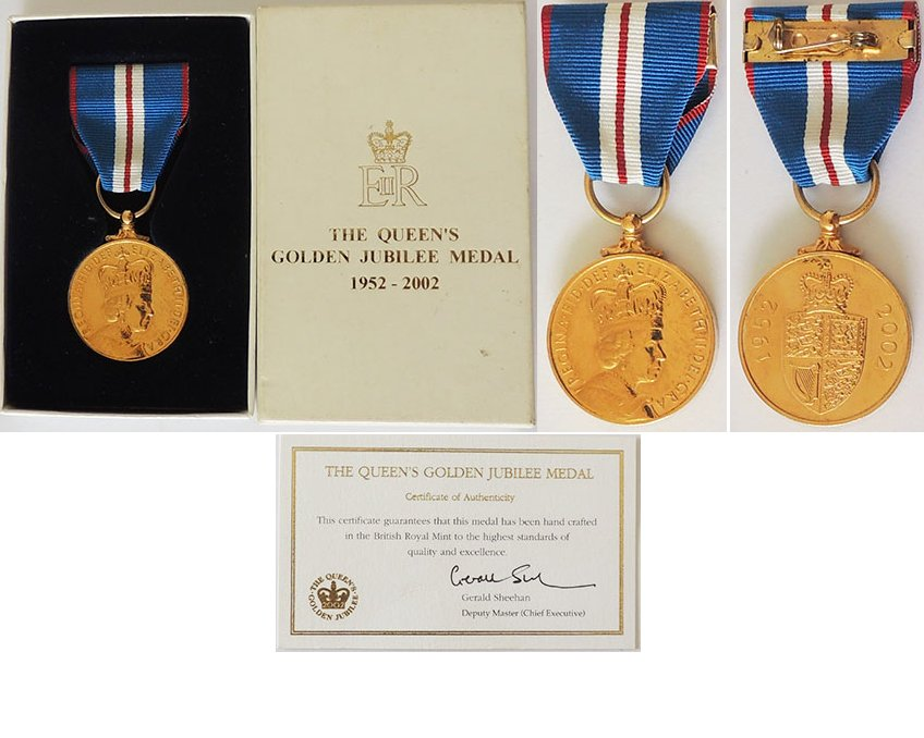 CM0401. THE QUEEN'S GOLDEN JUBILEE MEDAL 1952-2002