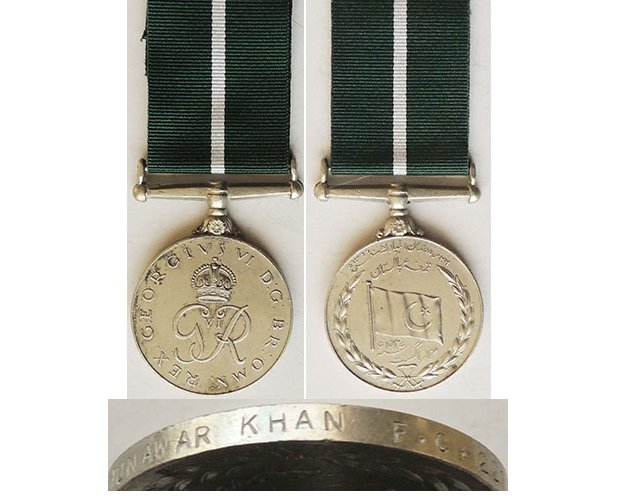 CM0405. PAKISTAN INDEPENDENCE MEDAL 1947 – Munawar Khan
