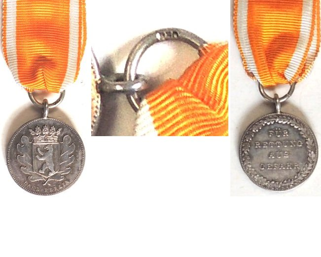 FM0795. LIFE SAVING AWARD IN SILVER, Land Berlin obverse