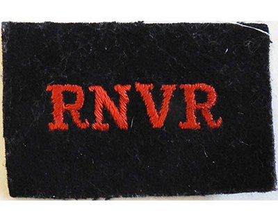 CST061. RNVR red woven on black wool