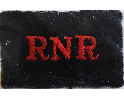 CST065. RNR red woven on black wool