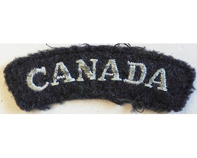 CST073. CANADA, WWII, light blue woven on blue/grey