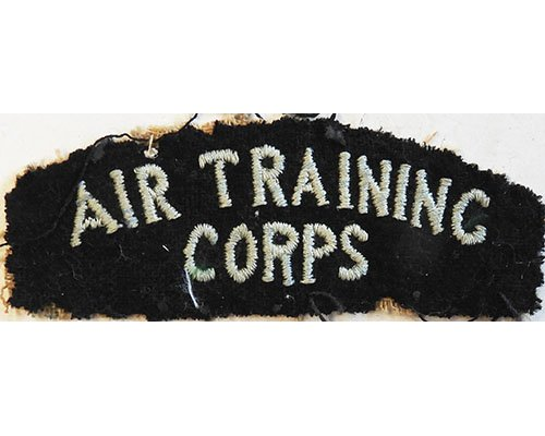 CST078. AIR TRAINING CORPS, light blue woven on black wool