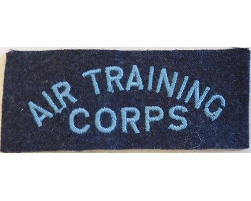 CST080. AIR TRAINING CORPS, light blue on bluegrey wool straight