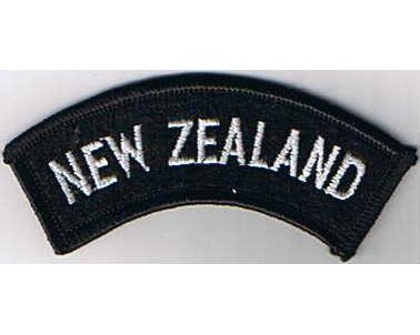 CST012. NEW ZEALAND, white on black, curved type, current issue