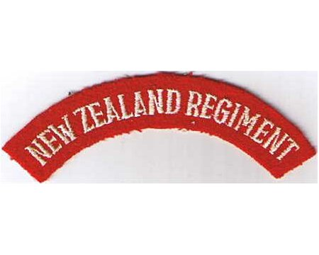 CST017. NEW ZEALAND REGIMENT, white on red