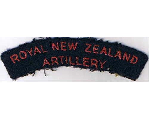 CST033. ROYAL NEW ZEALAND ARTILLERY, red on blue
