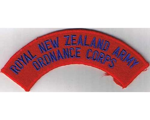 CST026. ROYAL N.Z. ARMY ORDNANCE CORPS, mirrowed edge