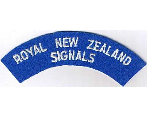 CST052. ROYAL NEW ZEALAND SIGNALS, large letters