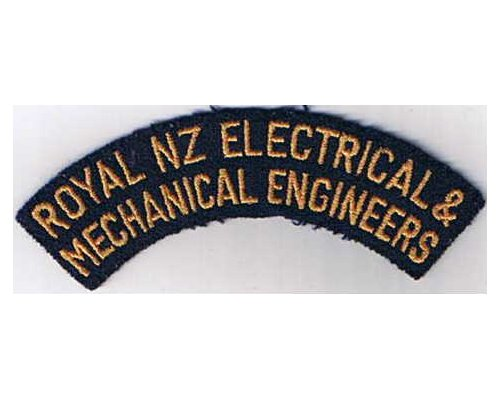 CST031. ROYAL N.Z. ELECTRICAL & MECHANICAL ENGINEERS, narrow