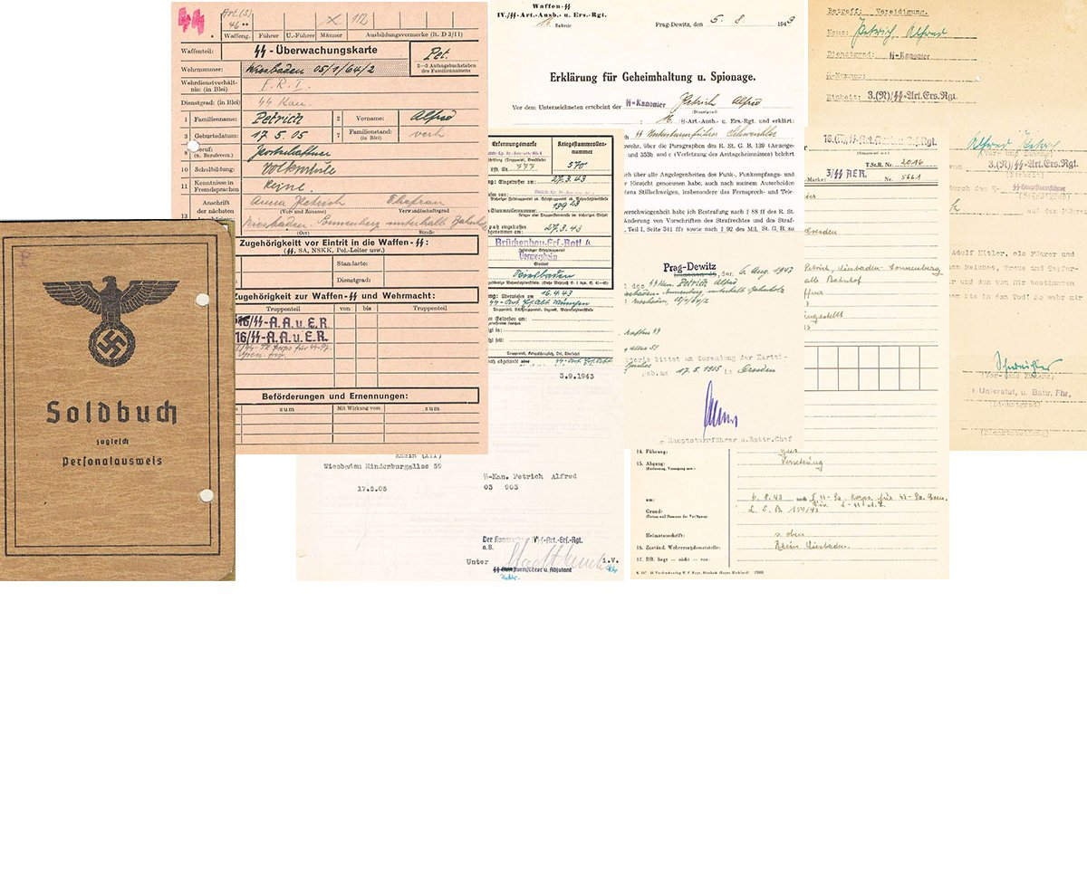 DOC002. ARMY SOLDBUCH & 9 SS DOCUMENTS
