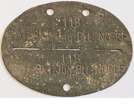 "DT2503. GERMAN WWII SS DIVISION ""NORGE"" DOG TAG"
