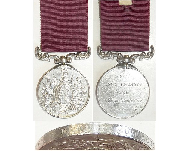 ESA012. ARMY LONG SERVICE & GOOD CONDUCT MEDAL VR - 40th Regt.