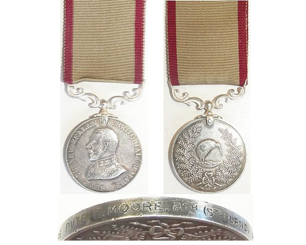 ESA035. NZ TERRITORIAL SERVICE MEDAL GVR - 8th Southland Regt.