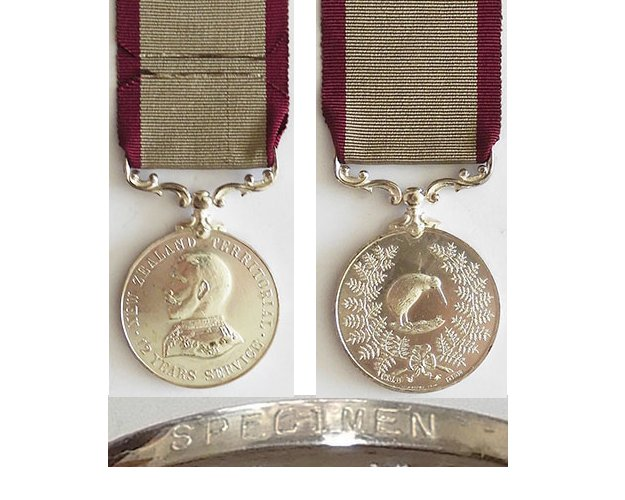 ESA036. NZ TERRITORIAL SERVICE MEDAL, William Dibble type - Spec