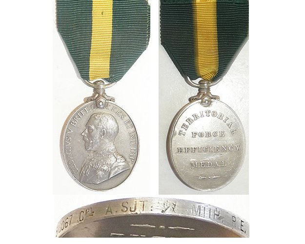 ESA045. TERRITORIAL FORCE EFFICIENCY MEDAL GVR - Smith RE