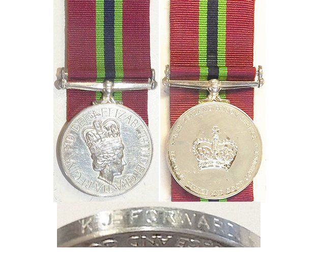 ESA131. NEW ZEALAND PRISON SERVICE MEDAL	EIIR – K.J.FORWARD