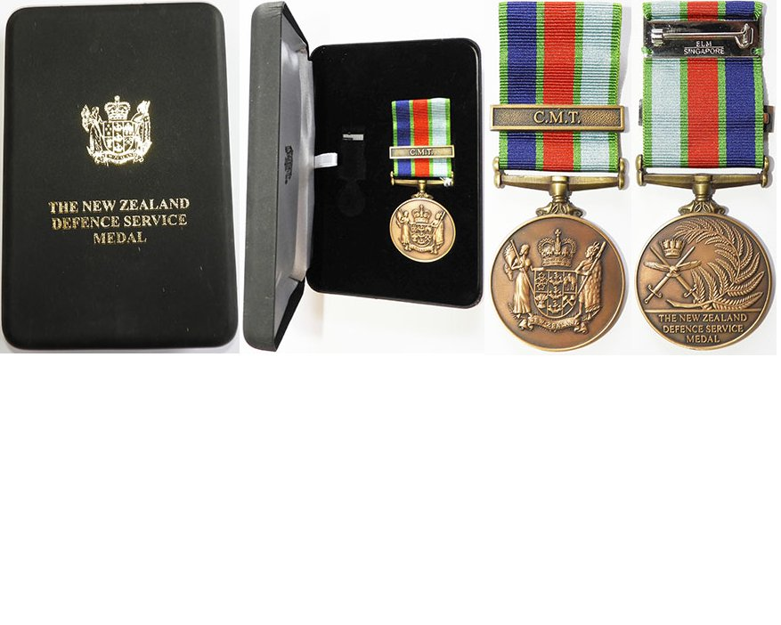 ESA158. NZ DEFENCE SERVICE MEDAL Clasp C.M.T. - Tpr. RNZAC