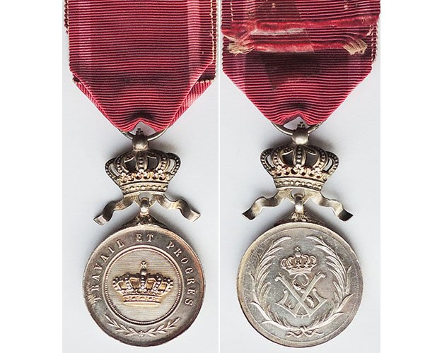 FM0430. BELGIUM ORDER OF THE CROWN, Silver gilt medal