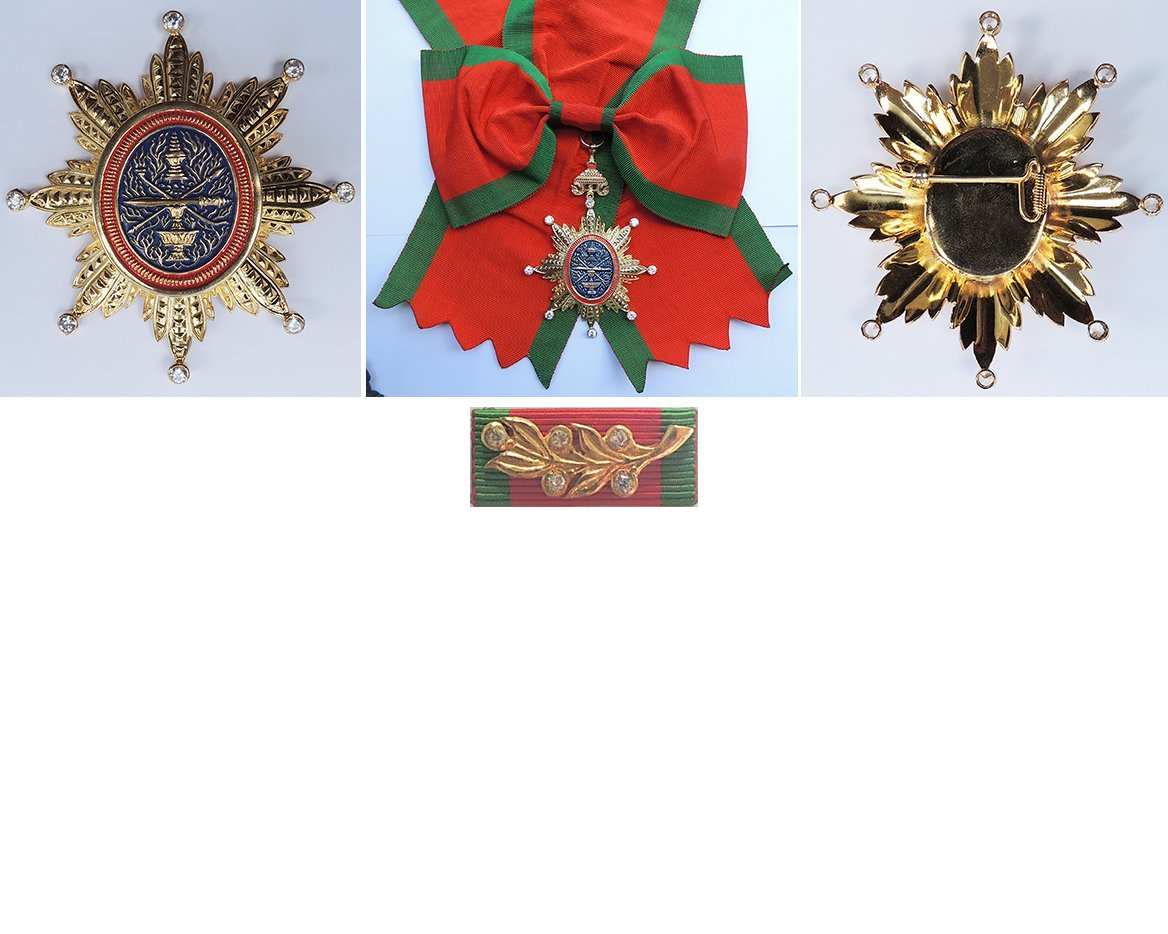 FM0494. ROYAL ORDER OF CAMBODIA, Grand Cross set