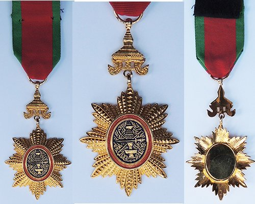 FM0498. ROYAL ORDER OF CAMBODIA, Chevalier's breast badge