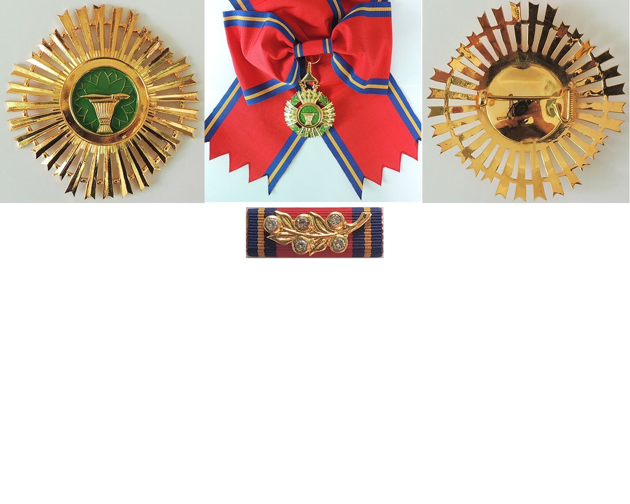 FM0507. CAMBODIA ROYAL ORDER OF SAHAMETREI, Grand Cross set