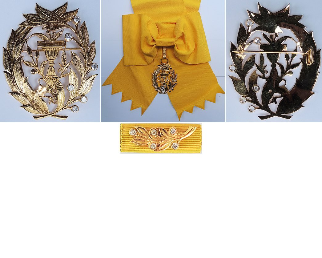 FM0517. ROYAL ORDER OF MONISARAPHON, Grand Cross set