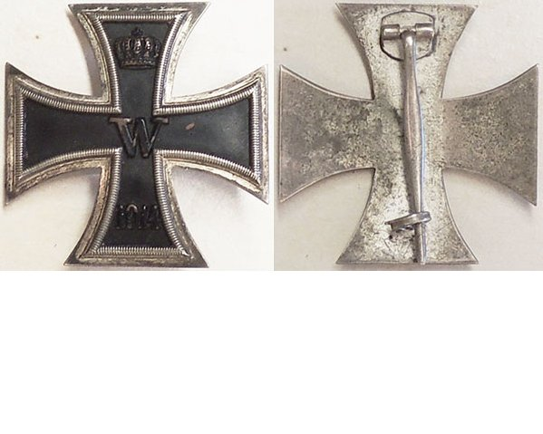 FM0606. IRON CROSS 1st Class 1914, convex type, plated silver