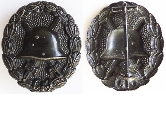 FM0623. GERMAN 1914 WOUND BADGE IN BLACK, pressed steel