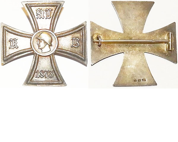 FM0634a. VETERAN'S CROSS 1873, 900 silver Maltese Cross