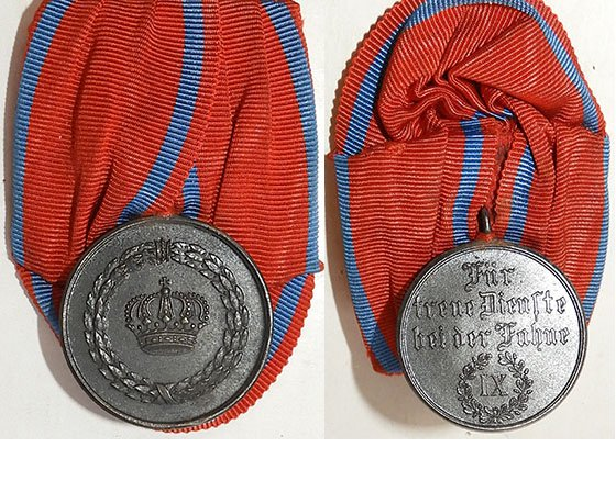 FM0633. WUERTENBERG MILITARY SERVICE MEDAL, 9 YEARS SERVICE